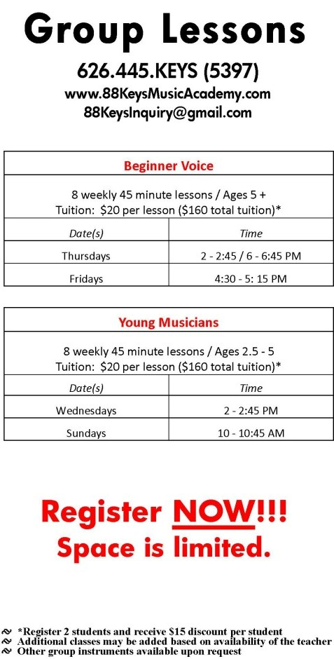 group music lessons pricing