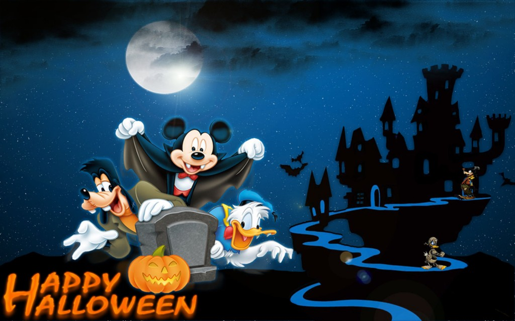 Mickey-Mouse-Happy-Halloween-Cartoon-Wallpaper