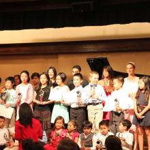 Spring Fest Recital- 5/2/15 Students receive Achievement Trophies - 88 Keys Academy Arcadia