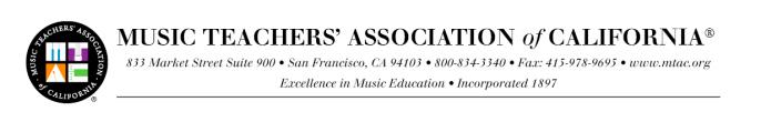 How to Enroll Your Child in the Music Teacher's Association of California Certificate of Merit Program